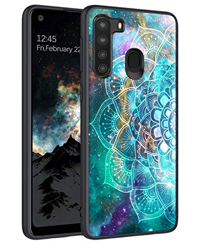 BENTOBEN Galaxy A21 Case, Samsung A21 Case, Slim Fit Glow in The Dark Shockproof Protective Hybrid Hard PC Soft TPU Bumper Cover Phone Cases for Samsung Galaxy A21 (2020), Mandala in Galaxy