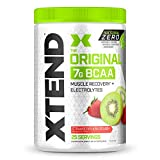 XTEND Natural Zero BCAA Powder Strawberry Kiwi Splash | Free of Artificial Sweeteners, Flavors, and Chemical Dyes | Post Workout Drink with Amino Acids | 7g BCAAs for Men & Women | 25 Servings