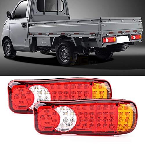 EBTOOLS Coppia di 12V 46 LED Car Truck Van RV Fanali posteriori Indicatore di stop arresto freno posteriore Posteriori Luci Posteriori a LED di Parcheggio Impermeabile LED Fanali Rimorchio Indicatore