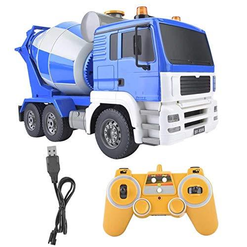 FEBT Juguete del camión del Mezclador de la Bomba de hormigón, 1:20 2.4GHz RC Modelo de camión de concreto con Control Remoto Niños hormigonera Coche, camión, vehículo, Juguete, Regalo para niños