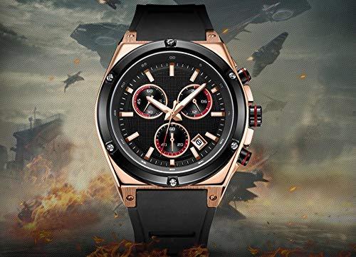 Voigoo Herren Sportuhren Chronograph Silikon-Quarz-Uhr-Männer Uhr Top-Marke Kreative Relogio Masculino