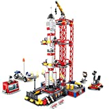 Bulokeliner Rampa de arranque Technik Shenzhou, bloques de construcción con cohete, 1002 piezas, Shenzhou Launch Pad de construcción, bloques de sujeción, compatible con Lego 21309