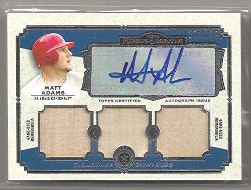 2013 Topps Museum Collection Baseball Matt Adams Triple Bat Auto Card # 101/299