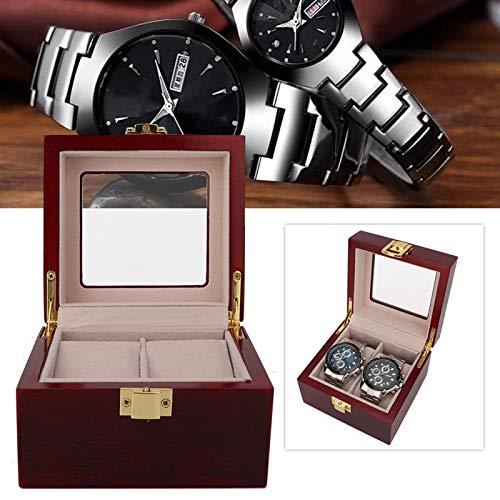 FECAMOS Caja de Almacenamiento de Relojes Caja de Almacenamiento de Relojes Liviana con Forro de Pelusa Suave para Guardar Relojes