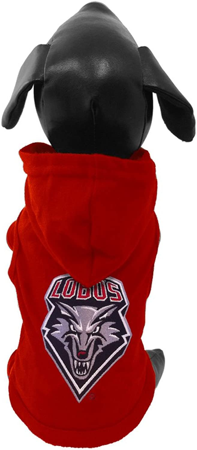 All Star Dogs New Mexico Lobos Cotton Lycra Hooded Dog Shirt, Tiny