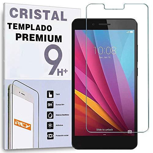 REY Protector de Pantalla para Huawei Honor 5X, Cristal Vidrio Templado Premium