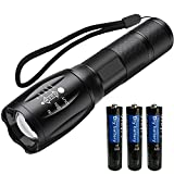 LED Tactical Flashlights,S1000 High Lumen Handheld Flashlight,5 Modes,Water Resistant,Zoomable Portable Light,Camping Accessories,Outdoor Gear for Camping Hiking Fishing Emergency Flashlights