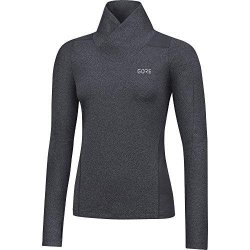 GORE Wear Atmungsaktives Damen Langarm Laufshirt, R3 Women Thermo Long Sleeve Shirt, 42, Grau, 100381