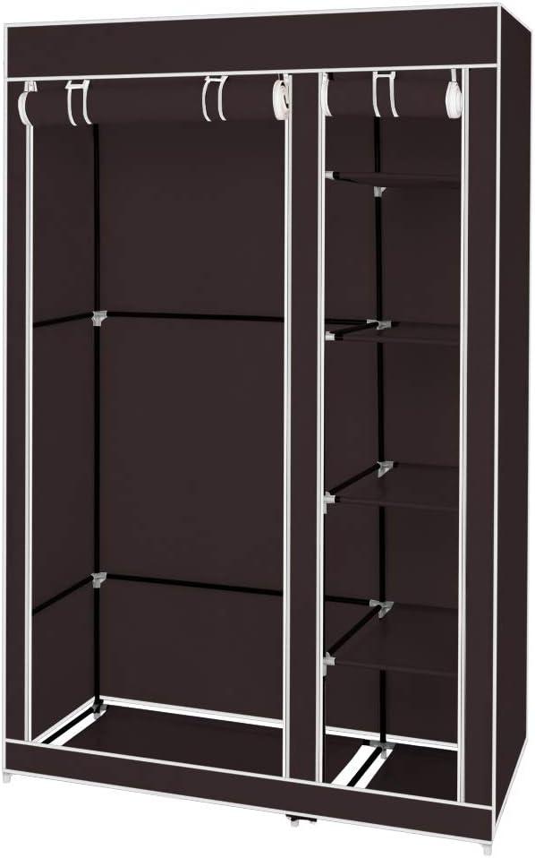 Dark Brown Spaco 17562 Portable Closet Storage Organizer Non-Woven ...