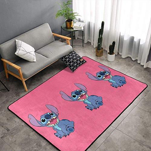 yunyang Alfombra antideslizante de grandes dimensiones para dibujos animados, alfombra para salón, alfombrilla para suelo, felpudos de 60 x 39 pulgadas