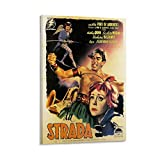 La Strada Vintage Anthony Quinn Movie Poster Leinwand Kunst