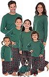PajamaGram Red and Green Plaid Matching Family Christmas Pajamas Green Women 's Medium / 8-10