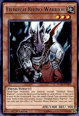 Yu-Gi-Oh! - Fiendish Rhino Warrior (BOSH-EN091) - Breakers of Shadow - 1st Edition - Rare
