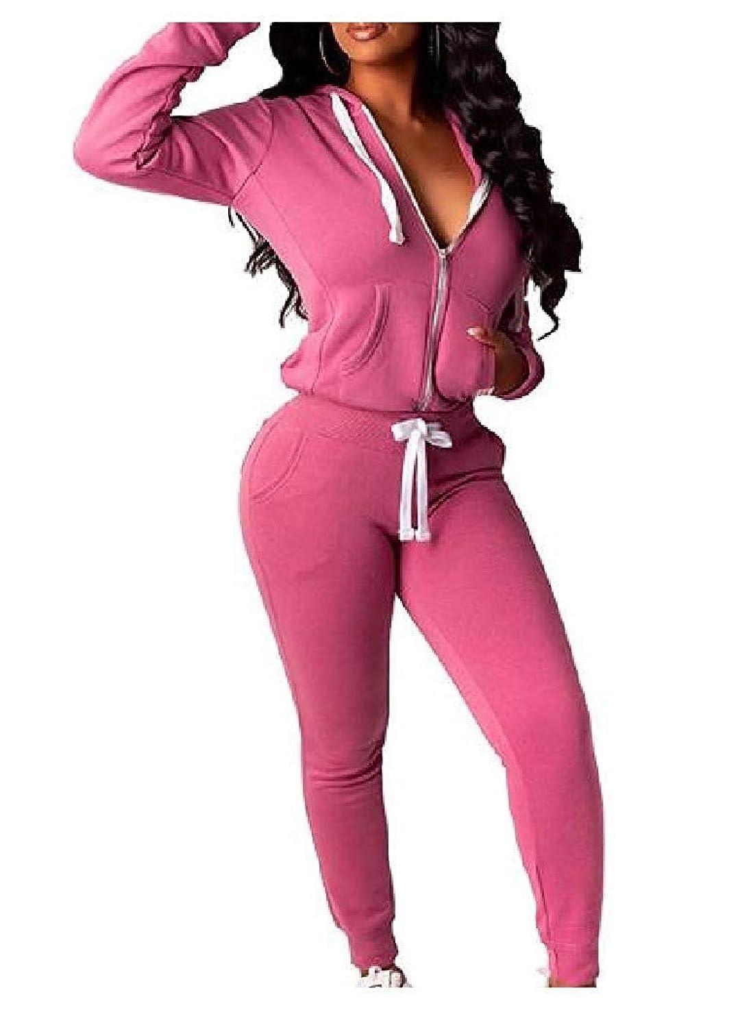 手入れアミューズメント煙突女性ジッパーフード付きピュアカジュアル2ピーストラックスーツ衣装 AS2 US S=China M