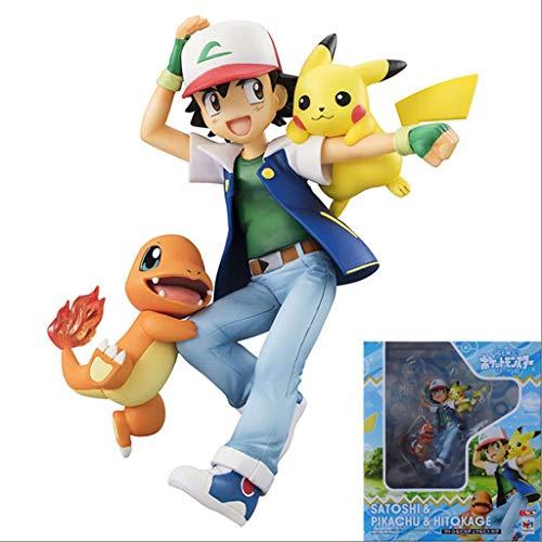 MMZ Pokemon Figur Ash Ketchum Statue Anime Geschenke for Pokemon Fans Pokemon Action-Figuren