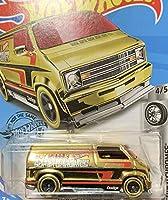 HOT WHEELS ホットウィール custom '77 dodge van カスタム ダッジバン ゴールド #23