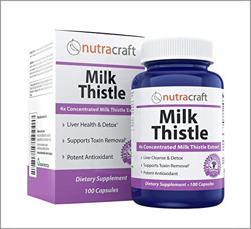 #1 Milk Thistle Extract | 1000mg 4:1 Concentrated Silymarin | No Fillers or Additives | 100 Capsules (3+ Month Supply)
