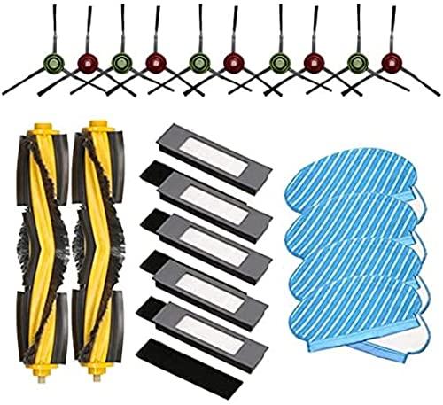 LYDPT Accesorios de aspiradora Bolsas de Polvo de Pincel de Rodillos Kit de filtros de reemplazo de Piezas para Deebot OZMO 920 950 Robot Accesorios de aspiradora.