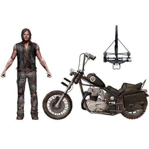 The Walking Dead TV Series / Daryl Dixon Action Figure 5 inches with chopper bike deluxe box set by McFarlane Toys