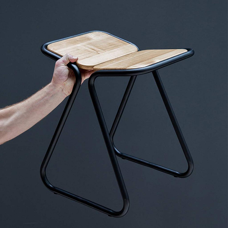 XINGPING Bar Stool High Stool Bar Chair Designer Chair Modern Minimalist Creative Chair Living Room Leisure Single Bar Stool (color   Black, Size   45CM)