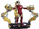 Hot Toys Marvel Iron Man 2 Iron Man Mark IV Diecast Figure with Suit-up Gantry 1/6 Scale Figure Set