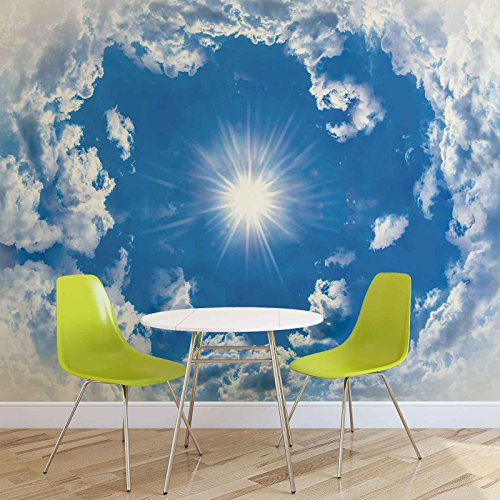 Himmel Wolken Sonne Natur - Forwall - Fototapete - Tapete - Fotomural - Mural Wandbild - (2308WM) - XXL - 312cm x 219cm - VLIES (EasyInstall) - 3 Pieces
