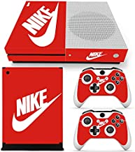 UUShop Protective Vinyl Skin Stickers for Microsoft Xbox One S with Two Free Wireless Controller Decals Full Body Gold/&Golden
