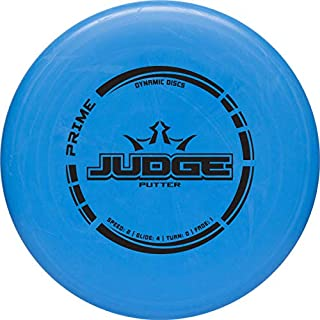 Dynamic Discs Prime Judge Disc Golf Putter   170g Plus   Throwing Frisbee Golf Putter   Great Off of The Tee Box   Stable Disc Golf Flight   Beaded Disc Golf Putter   Stamp Color Will Vary
