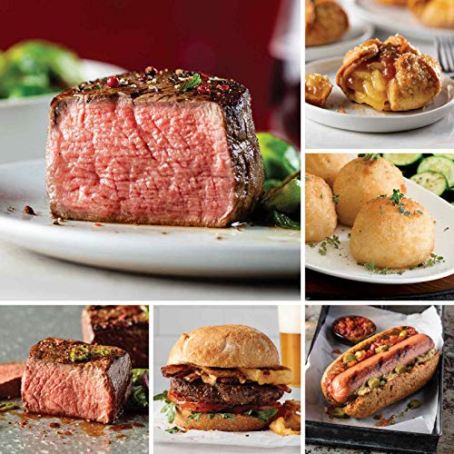 Omaha Steaks Omaha's Premier Package (24-Piece with Filet Mignons, Top Sirloins, Burgers, Gourmet Jumbo Franks, Potatoes au Gratin, Caramel Apple Tartlets)