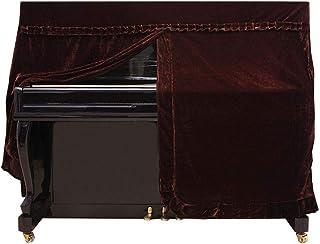 Comfortable Convenient Upright Piano Full Cover, Soft Smooth Piano Cover, for Pianos Upright Pianos(Brown)