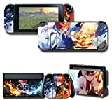 GilGames Protector Skin for Nintendo Switch, Stickers Decals Wrap Cover Full Set Protection Faceplate Console Dock