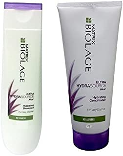 MATRIX By fbb Biolage Ultra Hydrating Shampoo, 400ml and Matrix Biolage Ultra Hydra Source Aloe Hydrating Conditioner (98g), Pack of 2