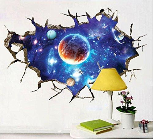 Planètes 3D Cosmos Une collection de planètes Ensemble Chambre Amovible Mural Garderie Decal Décor Bébé Art Autocollant mural Autocollants Décoration Des gamins