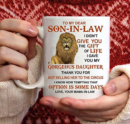 GadgetsTalk Best Son-in-Law Mug - Son in law Coffee Mugs - Funny Son-In-Law Gift - Unique Family Gag Gift - Birthday Christmas Novelty Present Ideas Cup Ceramic 11oz