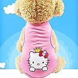 nobrand Ropa para Mascotas Chaleco Perro Gato Dibujos Animados Estampado Ropa Hello Kitty M