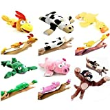 6pc Slingshot Flying Screaming Monkey Toy Flingshot Dog