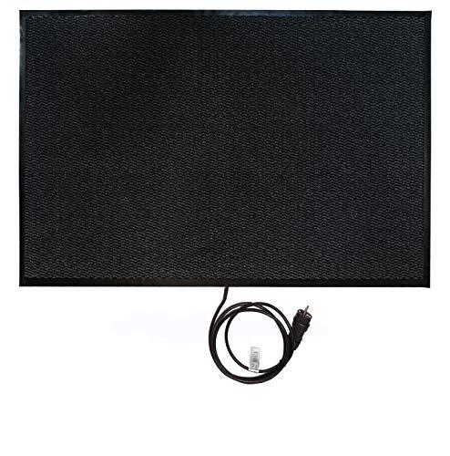 INROT Heiz Systeme 70126 Teppichheizung INROT wasserdichte Teppichheizmatte 80x120cm, 280 Watt, grau