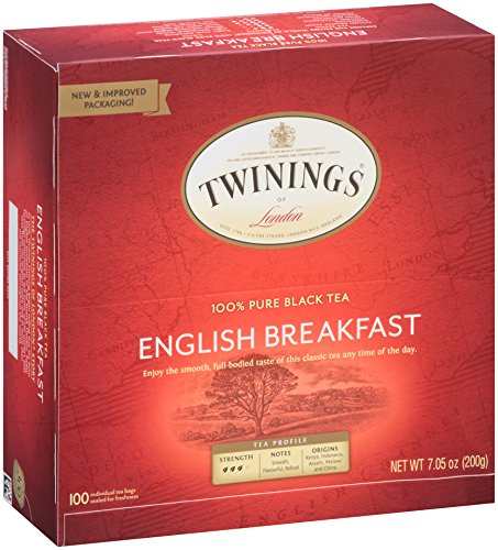 Twinings of London English Breakfast Black Tea Bags 100 Count
