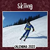 Skiing 2022 Calendar: Skiing mini calendar 2022 2023, Skiing 2022 Planner with Monthly Tabs and Notes Section, Skiing Monthly Square Calendar with 18 Exclusive Photos