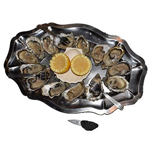Bourriche De 36 Huitres Fraiches N°3 En Direct De La Mer, Avec Son Couteau À Huitre Fraiche Offert Au Cuisinier Gastronome Particulier Ou Professionnel