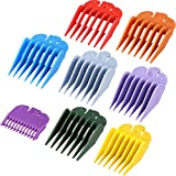8 Pieces Hair Clipper Guards Attachments, Hair Clipper Guide Combs Replacement Guards for Universal Hair Clipper and Trimmer, Replacement Lengths from 1/8 to 1 Inch (3-25 mm)