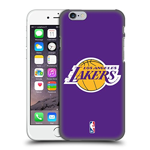 Head Case Designs Ufficiale NBA Semplice Los Angeles Lakers Cover Dura per Parte Posteriore Compatibile con Apple iPhone 6 / iPhone 6s