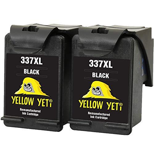 Yellow Yeti Ersatz für HP 337 Druckerpatronen Schwarz kompatibel für HP Photosmart 2500 2570 2573 2575 C4100 C4110 C4140 C4150 C4180 C4190 D5160 8049 Officejet 6300 6310 6313 6315 Deskjet D4160 5940