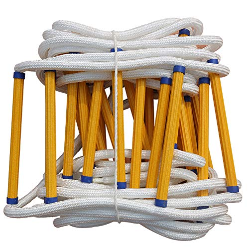 Escape Rope SOFE Ladder for Kids and Adults Escape from Window and Balcony Anti-Slip and Reusable(15m/50ft)
