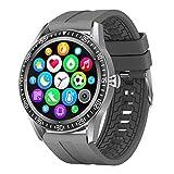 BNMY Smartwatch Reloj Inteligente Impermeable IP67 con Monitor De Sueño Pulsómetros Cronómetros Contador De Caloría, Pulsera De Actividad Inteligente para Hombre Mujer Niños con iOS Y Android,Plata