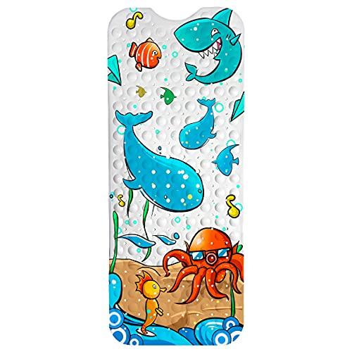 Eterbiz Badewannenmatte Kinder Badewanneneinlage Baby Bunt Antirutschmatte Badewanne Rutschmatte Badematte 100 x 40cm