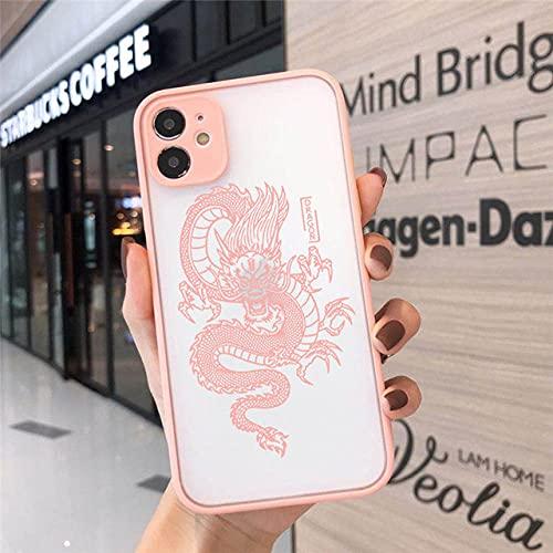 Estuche para teléfono con Estampado de dragón Vintage a la Moda para iPhone 12 7 8 Plus X XR XS 11pro MAX 6 S Plus SE2 Carcasa Trasera Dura para PC, 8, para iPhone 6 Plus