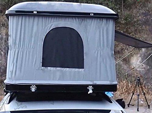 MCCAutomatic solar shell daktent voor auto's, zwart grijze doek