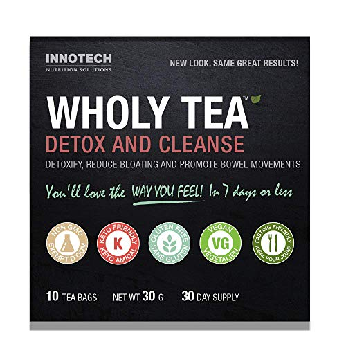Innotech Nutrition Wholy Tea Detox & Cleanse – 10 Count (1 Month Supply)
