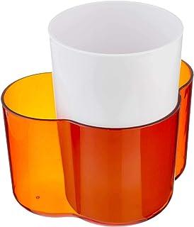 AGFA Plastic Spoon Strainer, 12.5 x 17 cm - White and Orange